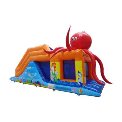 Parcours gonflable pieuvre