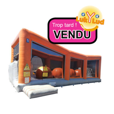 Structure gonflable occasion animation vendu.