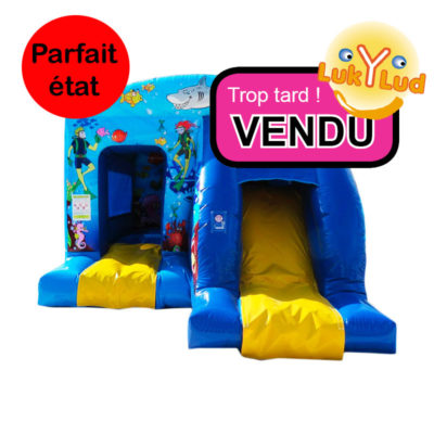 structure gonflable occasion maison toboggan vendu