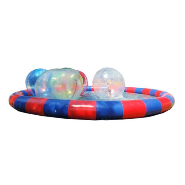 Water ball 2m, bulle gonflable aquatique géante.