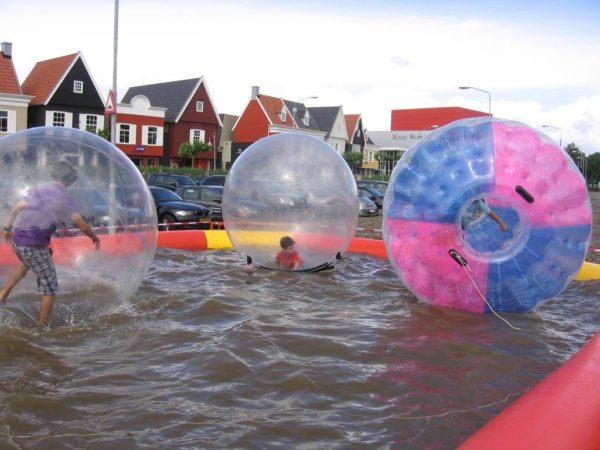 Water ball 2m transparente, bulle gonflable aquatique géante.