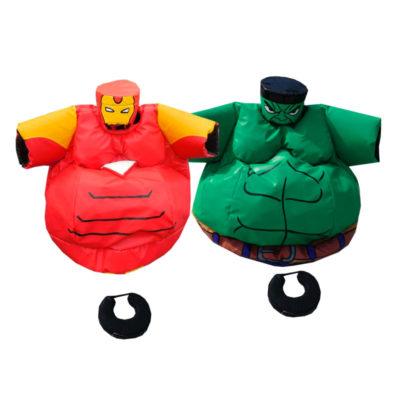 Déguisement sumo combat enfants Hulk contre Ironman