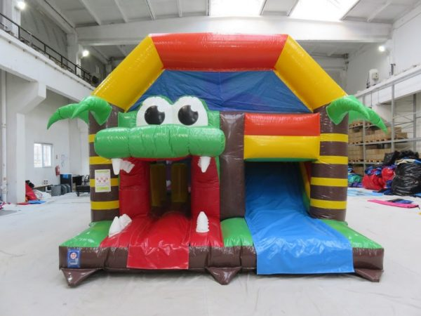 Combo croco multiplay gonflable jeux et toboggan